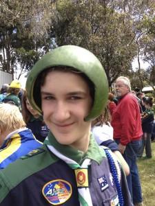 The melon helmet